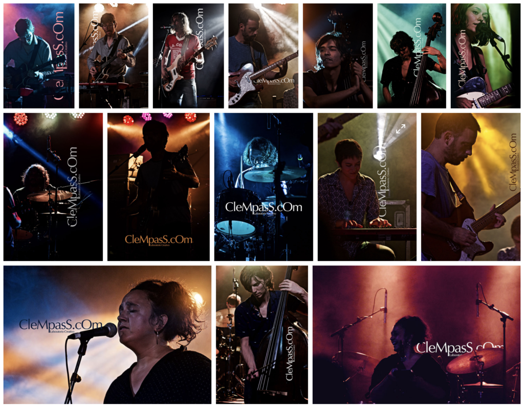 documentary record of musicians on stage - registro documental